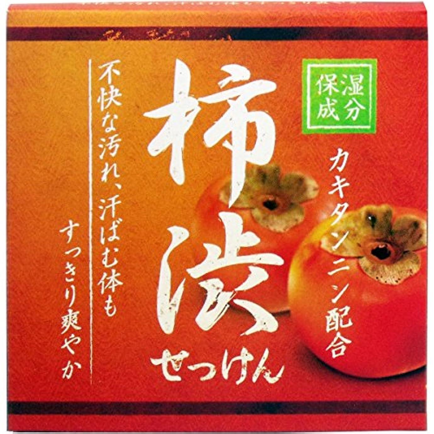 火山の中拮抗するクロバーコーポレーション 柿渋配合石けん 石鹸 セッケン せっけん HYA-SKA 80g×3