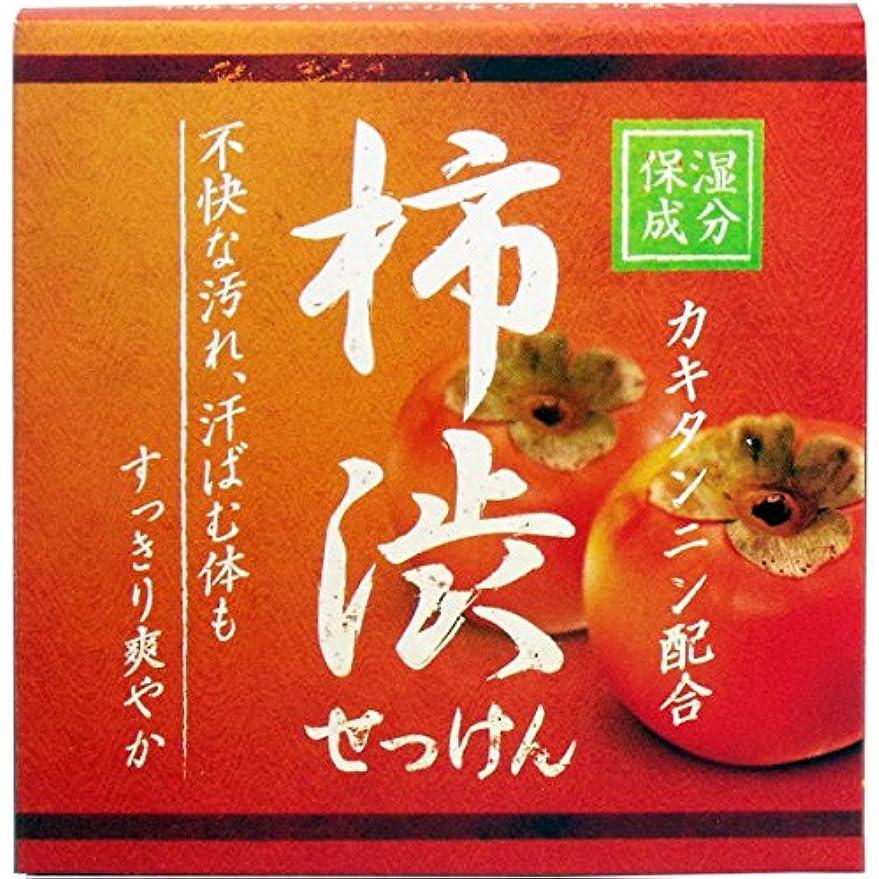 促す鮫階層クロバーコーポレーション 柿渋配合石けん 石鹸 セッケン せっけん HYA-SKA 80g×3