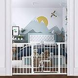 エルフ ベビー(Fairy Baby) ベビーゲート ペットゲート 階段 ベビーフェンス 突っ張り式 ダブルロック オートクローズ機能 前後開き 赤ちゃんゲート ベビーガード 柵 拡張フレーム付き 取付幅103-110cm