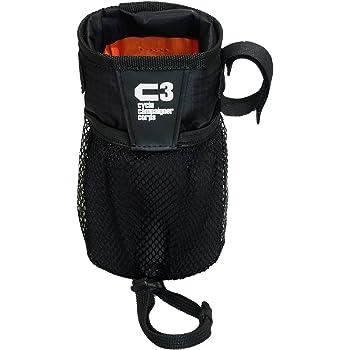 C3(サイクルキャンペイナーコープス) 自転車用ハンドルポーチ/ドリンクホルダー ステムサイドポーチ (ブラック)