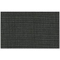 ランチョンマット : 福井クラフト ティーマット ブラック格子(角/ストロング・3-150-2) 307x215mm