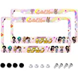 Hxuedan Sailor Moon License Plate Frame Anime License Plate Frame 2PCS Automotive Exterior Accessories, 12.3x6.3 inch