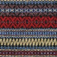 ウール【86900】【柄物】【ウール生地】カラー全3色【50cm単位 切り売り】【ウールジャガード】 05 ブルー/レッド