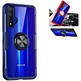 Beovtk Huawei Honor 20 Case,360°Rotating Ring Kickstand Protective Case,TPU PC Shock Absorption Double Protection Cover Compa