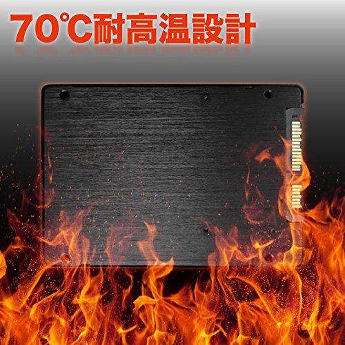 『Pasoul SSD ノートパソコン 増設用 3D TLC NAND採用 新品 2.5インチ 内蔵型SSD 日本国内三年保証 SATA 6Gbps Read(MAX)550 Write(MAX)400MB/s (120GB)』の4枚目の画像