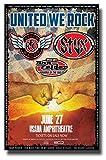 United We Rock ポスター コンサートプロモ 11 x 17インチ REO スピードワゴン スタックスドン・フェルダー