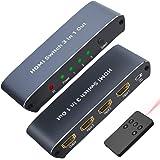 【4K 進化版】HDMI分配器2.0 HDMI 切替器 4K 60Hz リモコン付き 3入力1出力 4K 60Hz 3D HDCP2.2対応 hdmi2.0 HDMI セレクター 2K 3D対応 手動 切り替え PS4 Pro DVDプレーヤー Xb