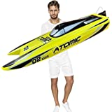 27.6-Inches Remote Control High Speed Racing Boat S011 Oversized Electric RC Boat Top Speed 65KM/H Brushless Motor Excellent