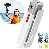 SABINETEK SmartMike+ Bluetooth ワイヤレスマイクシステム 携帯電話 ビデオカメラ 無線マイク 録音 ビデオ 生放送 充電式 高音質 衿入れ式 超小型 マイク (白)