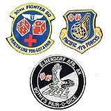 ミリタリーワッペン   アメリカ空軍 第90戦闘飛行隊 ベルクロ付き 3枚セット