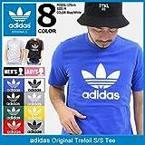 (アディダス) adidas Tシャツ 半袖 メンズ トレフォイル オリジナルス サイズL ホワイト/ブラック