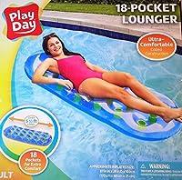 18 pocket lounger / 5.5 Feet long / 18 Pocket Lounger - Blue - Ultra Comfortable (Inflated: 67 W x 26 D x 10 H) [並行輸入品]