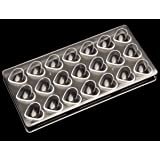 Clear Polycarbonate Chocolate Mold 21 Cavities Chocolate Candy Mold DIY Mold Dessert Molds for Baking Small Caring Type Mold