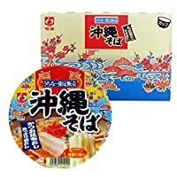 沖縄限定 明星 沖縄そば カップ (84g×12個) 3ケース かつお昆布だしソーキ味
