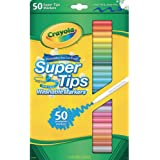 Crayola Washable SuperTips Markers, 50 Vibrant Colours, Perfect for the Classroom, School Booklists or drawing at home. Durab