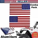 EDWIN セットの2ステッカー。3d–メタルAmerican Flag Decal。USクロムフラグ。エンブレムステッカーSubduedの自動トラック車。Buy–エドウィン・企業のグループ。
