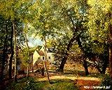 ピサロ 「オスニーの水のみ場近くの風景」 原画同縮尺近似(15号) pissarro-03-05