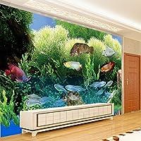 Sproud 大規模なカスタムの壁紙水中世界を 3 つの次元の熱帯魚のアクアリウムリビングルームの Tv の背景 400 Cmx 280 Cm