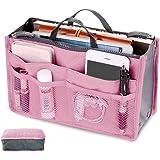 バッグインバッグ インナーバッグ 収納バッグ 化粧品バッグ マルチバッグ 化粧品収納ポーチ トラベルポーチ 多機能 軽量 丈夫 キャンプ 旅行 引越し 4カラー選ぶ (ピンク)