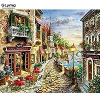 lavenz Craft Needlework DIY Handicrafts City LandscapeダイヤモンドPainting Street絵画ダイヤモンド刺繍平方ドリルモザイク画像 60X70 cm マルチカラー