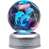 AXAYINC 3D Crystal Ball Night Light with Stand 7 Colors Change for Kids Baby Bedroom Decor Birthday Gift, 70haitun, 43237-2 5