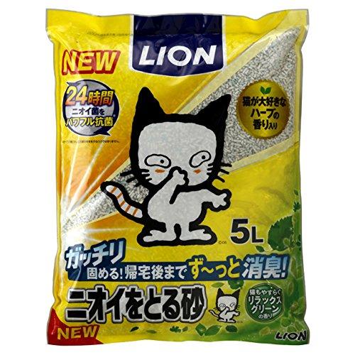 ライオン ニオイをとる砂 リラックスグリーンの香り 5L