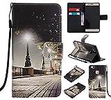 C-Super Mall-JP Huawei Ascend P9 Lite ケース: 品質PUレザー財布フリップスタンドケース