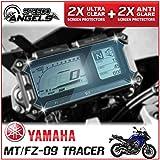 4 x YAMAHA MT-09 900 TRACER ダッシュボード / 計器クラスタ スクリーンプロテクター - 2 x スーパークリア & 2 x アンチグレア