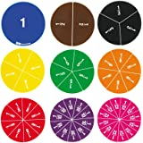 EAI Education Fraction Circles: Numbered - Set of 51
