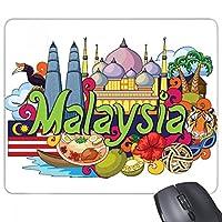 twinstowerマレーシアグラフィティ 長方形のノンスリップゴムパッドのゲームマウスパッドプレゼント