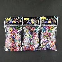 ルームバンド LoomBands ミックスカラー1800個【香り付き】(600個×3個セット)クリップ72個付 並行輸入品(Mix3)