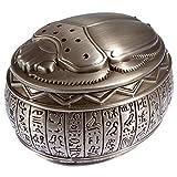 古代エジプト文字 ヒエログリフ付き スカラベモチーフ合金製小物入れ(ジュエリーボックス)