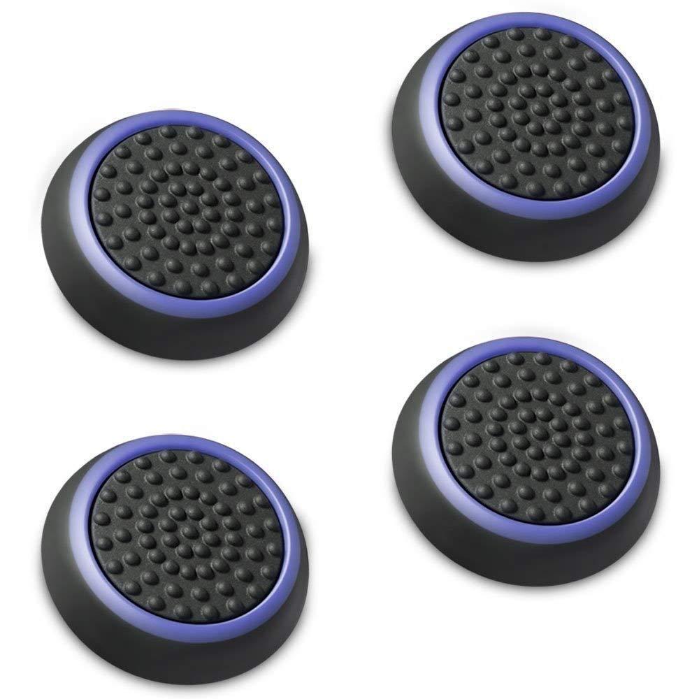 アナログスティック 保護カバー 4個セット パープル + ブラック ジョイスティックカバー アシストキャップ PS4 PS3 Xbox 360 Nintendo Wii U, Wii Nunchuck 対応 コントローラー専用