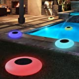 Blibly Swimming Pool Lights Solar Floating Light with Multi-Color LED Waterproof Outdoor Garden Lights