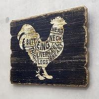 アメリカン ウッデンウォールデコ アメリカン雑貨 CHICKEN PART 鳥 バード 壁掛け