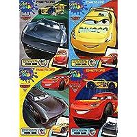 ディズニーピクサー – Cars 3 – セットof 4カラーand Play Coloring and Activity Books and 36パッククレヨン