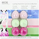 EOS Evolution of Smooth Lip Balm ~ Lasting Hydration Lip Care Collection 6-Pack ~ 2 Hibiscus Peach, 2 Cucumber Melon, 2 Organ