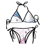 K0k2t0 Custom Adjustable Women's Bikini Set,Modern Digital Swirls Ivy Flowers Leaves and White Backdrop Image,Two Pieces Swim