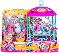NEW! Little Live Pets Royal SWEETHEARTS LOVE BIRDS with Cage - Two New Birdie Best Friends! [並行輸入品]