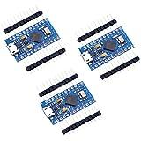 Teyleten Robot 3pcs Pro Micro Atmega32U4 5V 16MHz Bootloadered IDE Micro USB Pro Micro Development Board Microcontroller Comp