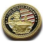 アメリカ合衆国 海軍 USS 空母 ロナルドレーガン コイン メダル