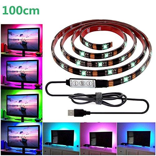 LED テープライト、LHYAN LEDテレビバックライトキット、USB SMD5050 RGB L...