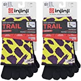 Injinji Women's Trail Midweight Crew Bundle Wild Fur M/L (2 Pack)