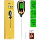 Gobetter Soil Moisture Meter, 4-in-1 Plant ph Meter Soil Tester with Moisture/pH/Light/Temperature for Garden, Lawn, Farm, In