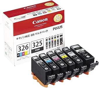 Canon インクタンクBCI-326 (BK/C/M/Y/GY) + BCI-325 マルチパック BCI-326+325/6MP