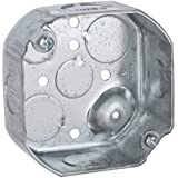 Hubbell-Raco 127 1-1/2-Inch Deep 1/2-Inch and 3/4-Inch Side Knockouts 4-inch Octagon Box