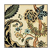 Trademark Fine Art Small Jacobean Tile I by Chariklia Zarris 18x18-Inch WAG01456-C1818GG