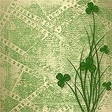 Yeele 4x4フィート Happy St. Patrick's Day 背景幕 写真撮影用 グリーンクローバー シャムロック背景 スプリングパーティー装飾 バナー ベビー キッズ 大人用 写真ブース撮影 ビニールスタジオ小道具