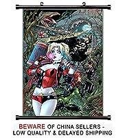 Harley Quinn Comic Bookファブリック壁スクロールポスター( 16x 24)インチ