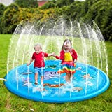 SensoryKingdom Water Sprinkler Splash Mat Fun for Kids Party